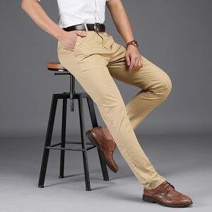 Image 3 - Брендовые мужские прямые брюки NIGRITY, новинка сезона осень зима 2020, деловые повседневные хлопковые брюки, мужские брюки большого размера 28 42