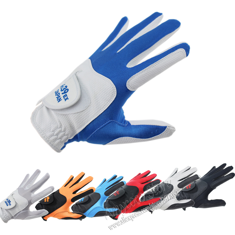 New Cooyute Fit 39 Golf Gloves Men's A pair of Golf Gloves 5 Color 10pcs/lot Right Handed sports gloves Free Shipping finger ten 1 pair men s golf gloves rain hot wet grip left and right hand pr comfortable fit small medium large ml xl gloves
