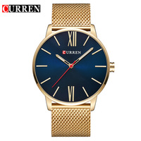 CURREN Brand 2017 Tops Simple Minimalism Luxury Quartz Wrist Watches For Men Relogio Masculino Black Gold