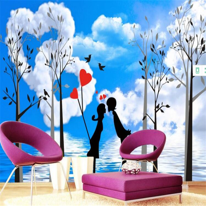 Customized 3D Wall Papers Modern Photo Wallpaper Large Lovers Romantic Wall Mural Non-woven Wallpapers For Living Room Bedroom milan classical wall papers home decor non woven wallpaper roll embossed simple light color living room wallpapers wall mural