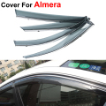 4pcs/lot Vent Rain Sun Shield Window Visor For Nissan Almera 2013 2014 2015 Stickers Covers Car-Styling Accessories Vent Guard