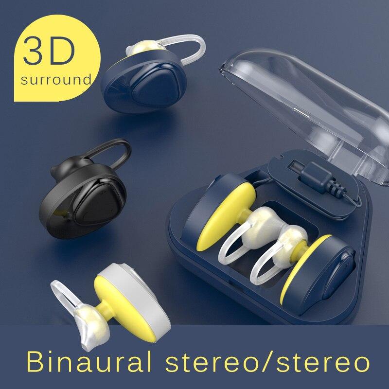 все цены на Bluetooth Headphones Wireless Earphone 3D Stereo Music Ear Hook Sports Earpiece Bluetooth 4.2 Headset 700mAh Charge Storage Box онлайн