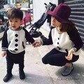Ins * más nuevos 2016 cabritos del bebé de béisbol patrón suéteres de punto de algodón boys & girls y mamá primavera otoño suéter superior de alta calidad