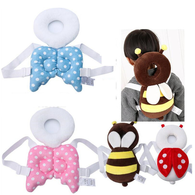 4627777542d9 Baby Head protection pad Toddler headrest pillow baby neck Cute wings  nursing drop resistance cushion