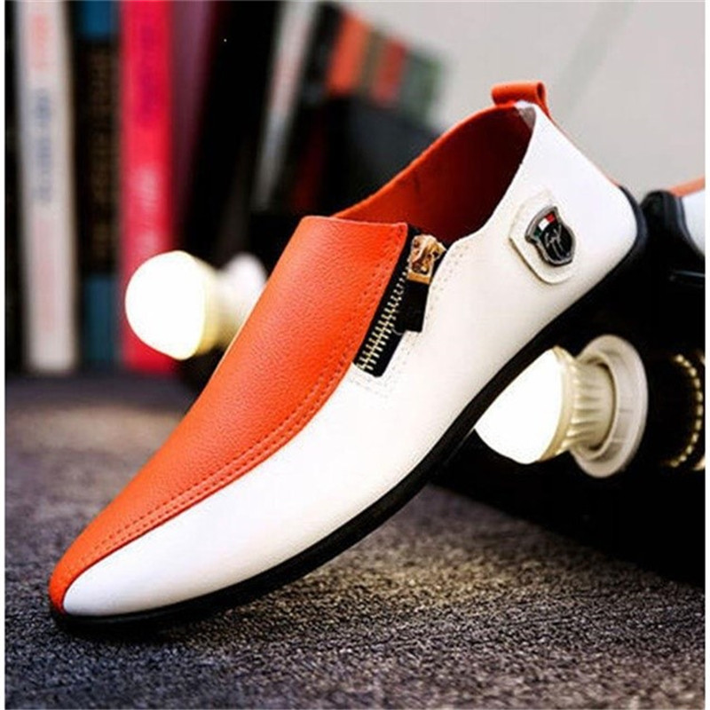 Comfortable Men Casual Shoes Quality Split Leather Shoes Men Flats Hot Sale Moccasins Shoe Zapatos Loafers Driving Shoes 2019