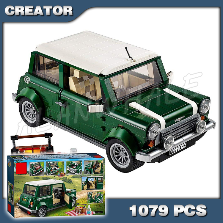 1079pcs Creator 10568 Mobile Expert Cooper Car 3D Model Building Blocks Toys Bricks Set Compatible with Lego