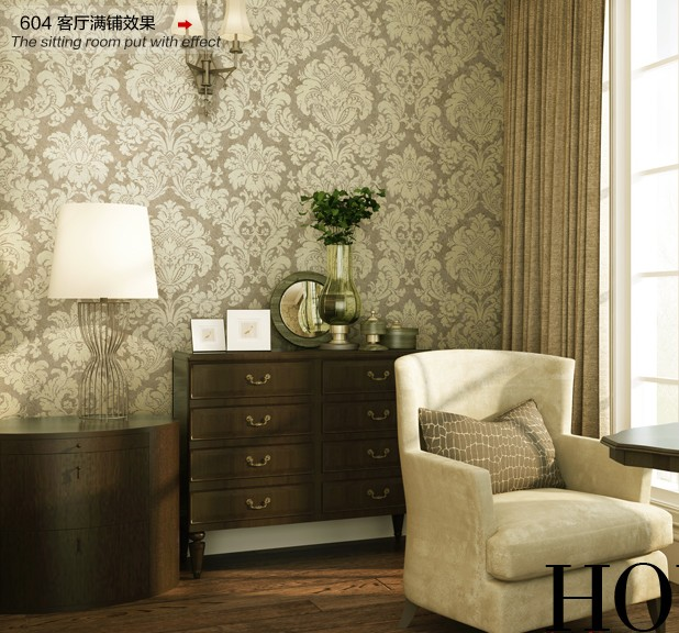 10m*53cm classic style restoring ancient ways Non-woven wallpaper shop full of living room big flowers bedroom wall paper new household decorates nostalgic american country pure paper wallpaper restoring ancient ways brush paint process living room