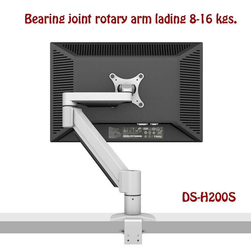 Super Long-life Desktop Monitor Mount Bearing Joint Rotary Arm Full Motion 14-32 LCD LED Monitor Holder Loading 8-16kgs H200S buy monitor for desktop