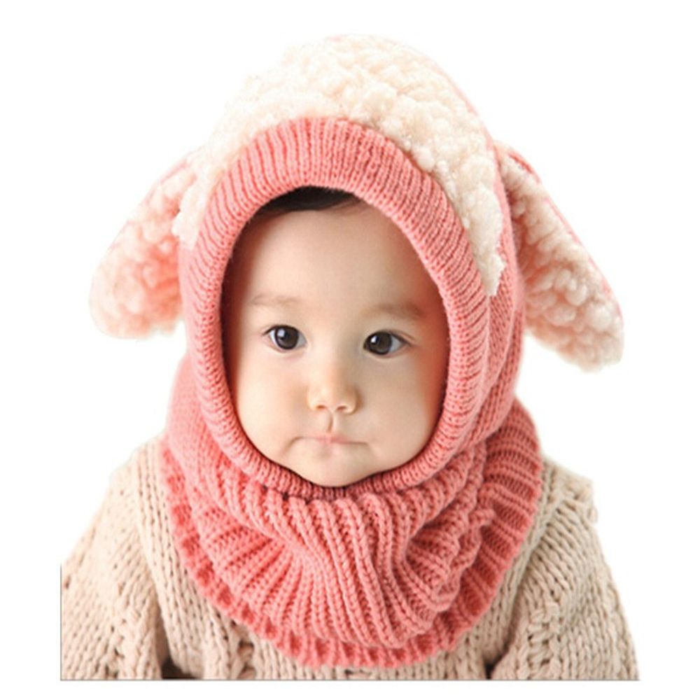 Winter Rabbit Ear Kids Baby Hats Lovely Toddler Girl Boy Beanie Cap Warm Baby Hat+Hooded Knitted Scarf Set Earflap Caps pinup rockabilly special retro atmosphere beautiful generous banquet hoop rabbit ear