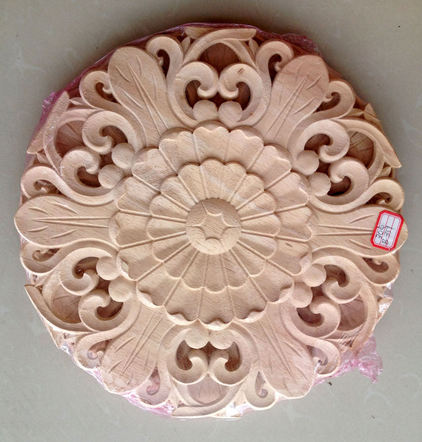 Dongyang wood carving fashion corners applique gate flower wood shavings carved  furniture flower bed wood carved 505