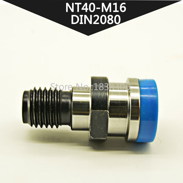DIN2080 Adaptor Pull Studs BT40 1PCS CNC Retention Knob Pull Stud NT40 DIN2080 M16 for Milling Tool Holder cutting tools machine