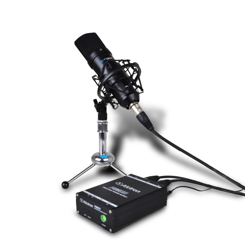 Ursprüngliche Alctron PS200 48V Phantomspeisung für Kondensatormikrofon, sowohl über 9V-Batterie als auch 9V-Adapter