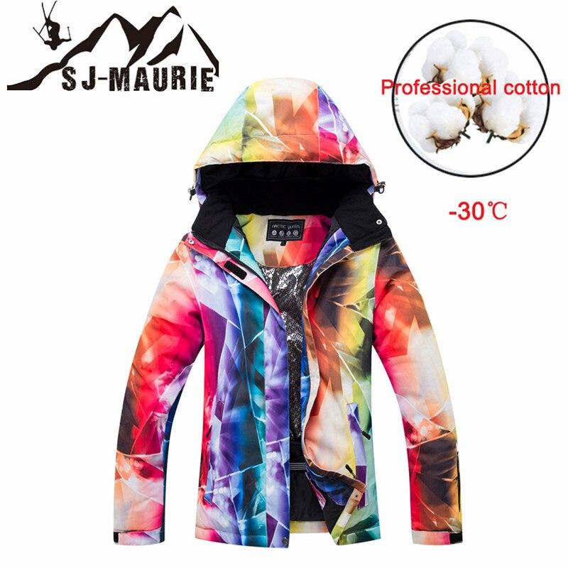 Veste de Ski SJ-MAURIE veste de neige femme veste de snowboard femme vêtements de sport d'hiver veste de Ski de neige respirante imperméable