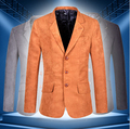 High Quality 2015 New Arrival Men's Spring Brand Casual Blazers  Stylish Slim Corduroy Blazer Male Fashion Suit Jacket