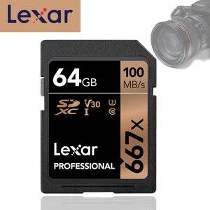 Image 1 - Lexar 667x de memoria sd tarjeta de memoria Flash de 64gb U3 SDXC UHS I tarjetas de alta velocidad 100 MB/S cartao de memoria sd Digital SLR/cámara HD