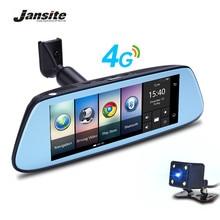 Jansite 8 «Touch IPS 4 г Автомобильный видеорегистратор Android зеркало GPS FHD 1080 P двойной объектив видеорегистраторы видео Регистраторы зеркало заднего вида автомобиля Камера регистраторы