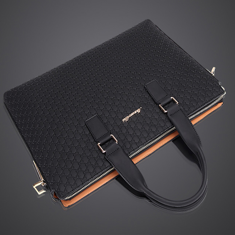 2019 New Simple Leather Laptop Bag One Shoulder Briefcase  Business Bag Handbag Men Computer Bag bolso hombre2019 New Simple Leather Laptop Bag One Shoulder Briefcase  Business Bag Handbag Men Computer Bag bolso hombre