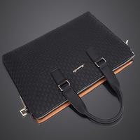 2019 New Simple Leather Laptop Bag One Shoulder Briefcase Business Bag Handbag Men Computer Bag bolso hombre