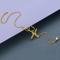 Todorova Stainless Steel Heartbeat Cardiogram Bracelets Stethoscope Women Bracelet Special Gifts for Nurse Jewelry for Doctor 4