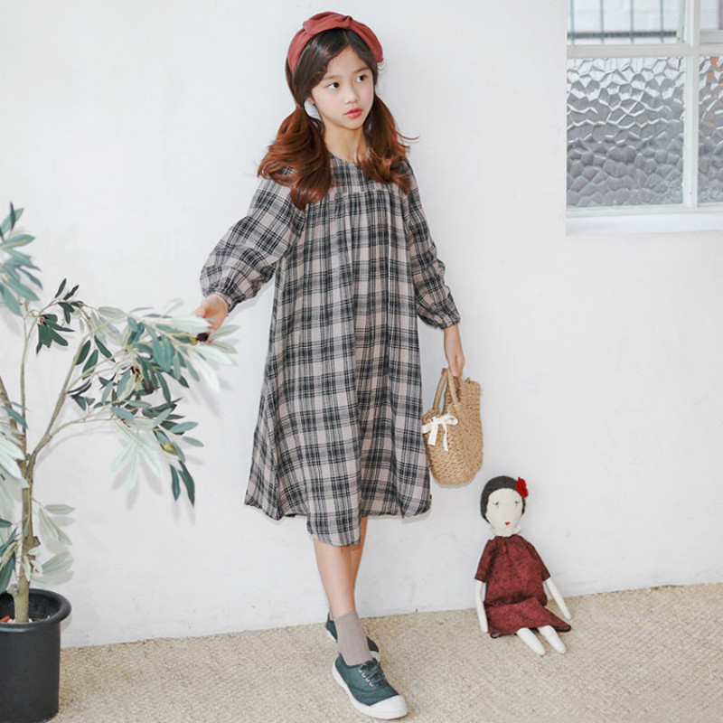 New 2019 Spring Retro Girls Dress Children Cotton Dress Kids Long Sleeve Clothes Toddler Casual Dress Baby Plaid Dress,#3747New 2019 Spring Retro Girls Dress Children Cotton Dress Kids Long Sleeve Clothes Toddler Casual Dress Baby Plaid Dress,#3747