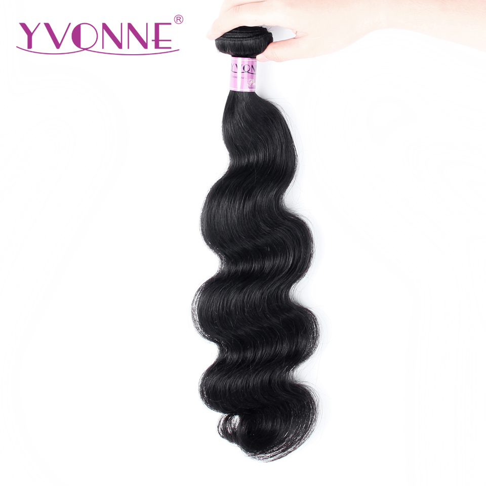 Yvonne Brazilian Body Wave Remy Hair Bundles 100% Human Hair Weave Natural Color 8-28 Inches Free Shipping