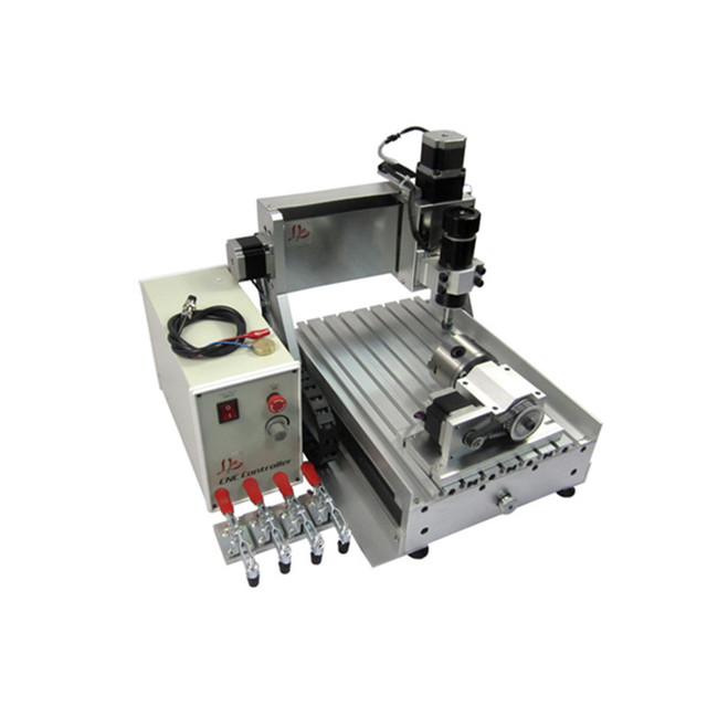 4 axis PCB drilling cnc 3020 wood router with limit switch and cutter collet clamp vise