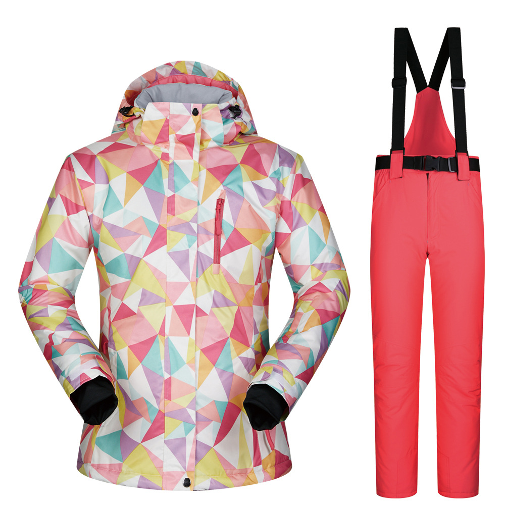 476a17ad46 Brands New 2018 High Quality Winter Ski suit Women Ski Jacket + Pants Snow  Warm Waterproof Windproof Skiing Snowboarding Suits