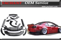 Car Styling Fiber Glass FRP Bodykit Fit For 89 94 180SX RPS13 Rocket Bunny Wide Body Style Bumper Fender Spoiler Diffuser Kits