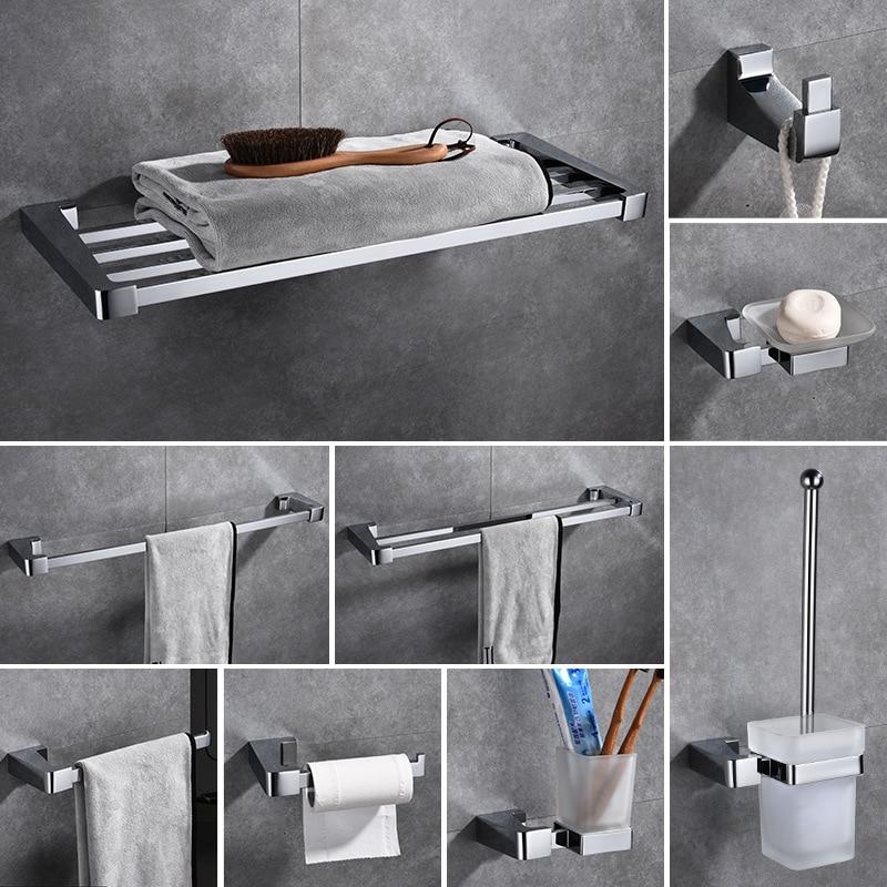 Polished chrome bathroom accessories brass 5 piece bath - Chrome and brass bathroom accessories ...