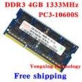 Пожизненная гарантия Для hynix DDR3 4 ГБ 8 ГБ 1333 МГц PC3-10600S Оригинальной аутентичной DDR 3 4 Г памяти ноутбука ноутбук БАРАНА SODIMM 204PIN