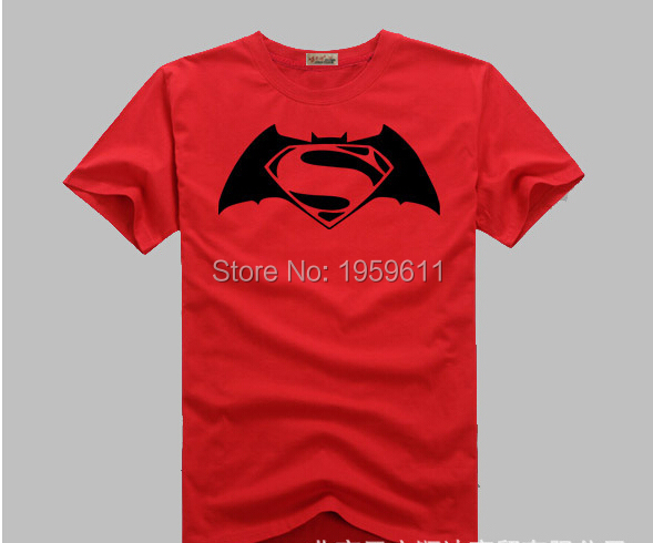 Top Quality t shirt Batman VSSuperman shirt men tops tee Cotton Casual t shirt teenagers