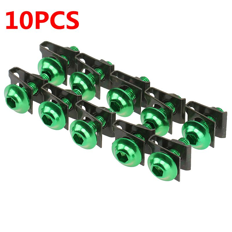 10x 6mm CNC Motorcycle Fairing Body Work Bolt Kit Screw Spire Speed Fastener Clip Nuts For ETV1000 2001-2007 Sportbike Nuts Bolt