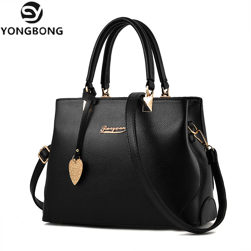 YONGBONG Women Bag Women's Handbag OL Shoulder Bag Casual Tote Crossbody Bags Female Famous Brand Design Wallet Sac A Main weiju new canvas women handbag large capacity casual tote bag women men shoulder bag messenger crossbody bags sac a main