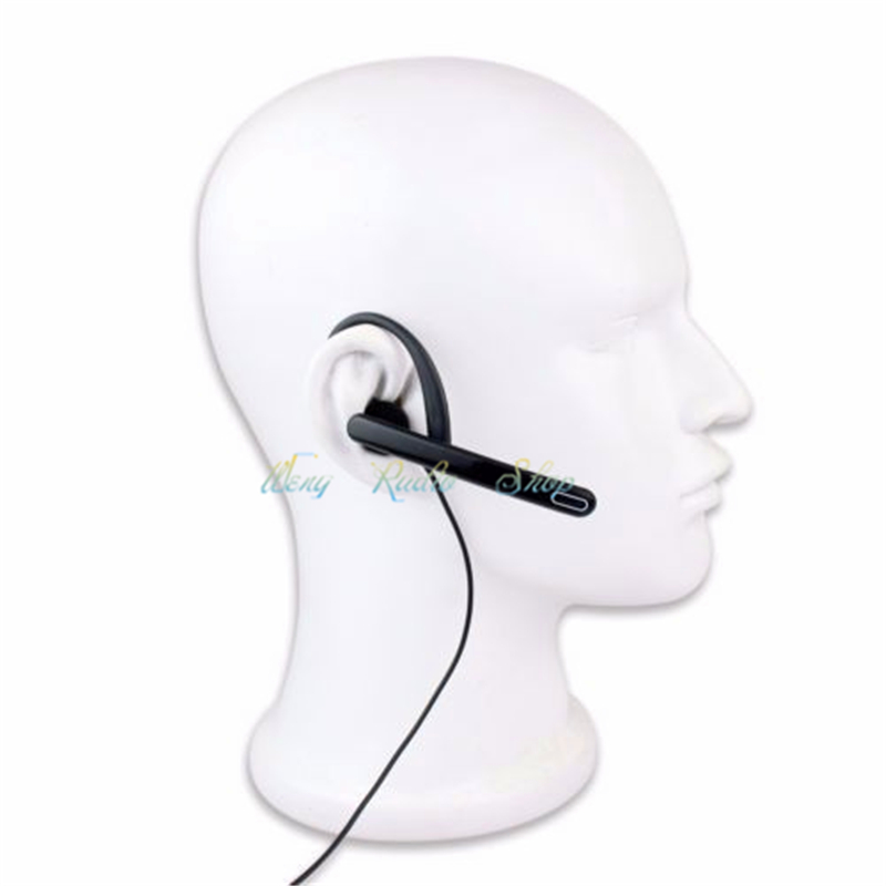 New 2Pin Earpiece Mic PTT Headset for Kenwood BAOFENG Walkie Talkie UV-5R UV-8HX BF-UVB2 WOUXUN HYT PUXING Radio free shipping