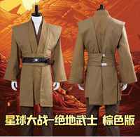 Movie Star Wars Jedi Knight Anakin Skywalker Cosplay Costume Halloween adult men Medieval robe Costume Jedi Knight full uniform
