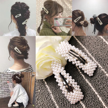Get more info on the 2019high quality  Women Girls Barrettes Hair Clip Crystal Elegant Pearl Hairpin Barrette Headdress Accessories