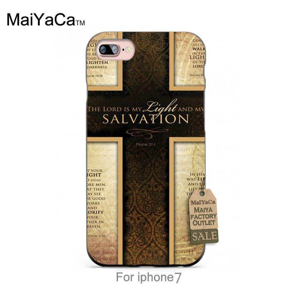Maiyaca силиконовый чехол Иисус Христос крест Библия Стих Котировки Хит  продаж модные дизайнерские кожа тонкая ячейки для случая 6 6 plus 7 7 Plus 97923c44631