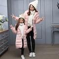 -30 graus jaqueta de inverno da Menina para baixo Casaco Casacos 2016 NOVA Crianças quentes do bebê jaqueta grossa Para Baixo pato Crianças Outerwears frio inverno