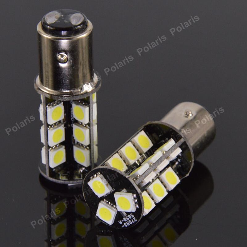 Canbus P21/5W 1157 27 SMD 5050 Car Error Free LED Auto Lights 27led Backup Tail Rear Turn Signal Lamps No Warning BAY15D 1156 5050 19 smd led warm white canbus error free backup car drl bulbs lamps