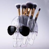 CICI y SISI Cosmética de Acrílico Titular de Vacío Bolsa De Maquillaje Artista Cepillos Cepillos de Almacenamiento Titular de La Pluma Organizador Decoración Del Hogar