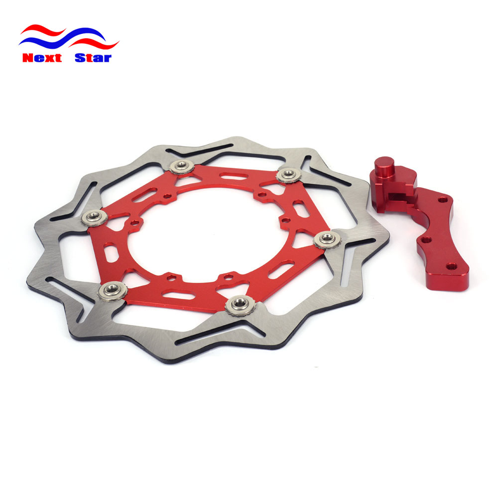 Motorcycle 270MM Front Floating Brake Disc Rotor & Adapter Bracket For HONDA CRF CR125 CRF250X CRF450X CRF450R CRF250 CRF450 new crf250 crf450 after motocross fender masonry for honda
