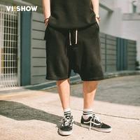 VIISHOW New Summer Men S Shorts Breathable Cotton Casual Shorts Knee Length Shorts Black Hip Hop