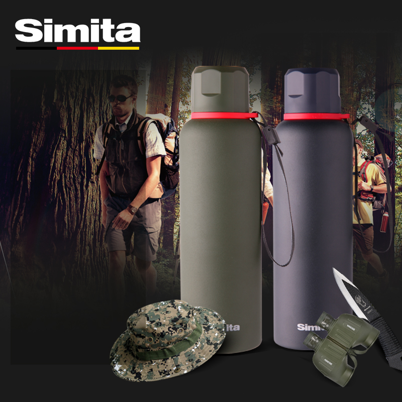 Simita 600mL Thermos Bottle Double Wall Vacuum Insulated Outdoor Sports Water Bottle Travel Mug Coffee Cup Camping Flasks