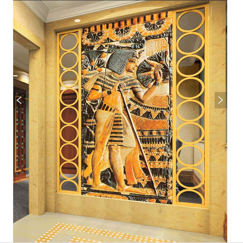 Modern art wall painting for living room ancient egyptian for Egyptian mural art