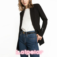 Fashion long sleeve black Office women blazers and jackets Spring women blazer suits Casual single button Slim female coat 2018