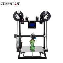 ZONESTAR 2019 Newest Aluminum Metal Large Big Size Fast Assembly Auto Level Laser Engraving Filament Run out Detect 3d printer