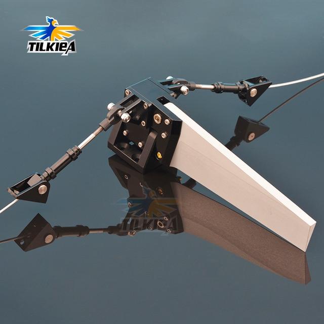Di Alluminio di CNC 50x155 millimetri Centro Del Timone per la Barca del Rc Lunghezza di Oltre 100 centimetri di Buona Qualità