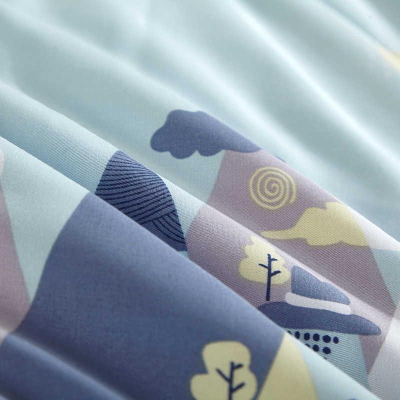 Phong Cách phim hoạt hình Xanh Núi Quilting Mùa Hè Comforter Quilt Khâu Modal Vải Polyester Phụ Đôi Nữ Hoàng Điều Hòa Không Khí