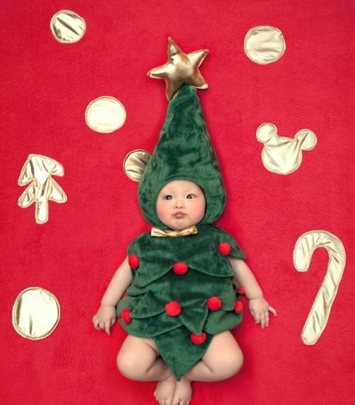 Jane Z Ann Baby Infant Toddler Christmas Tree Costume Photo Props