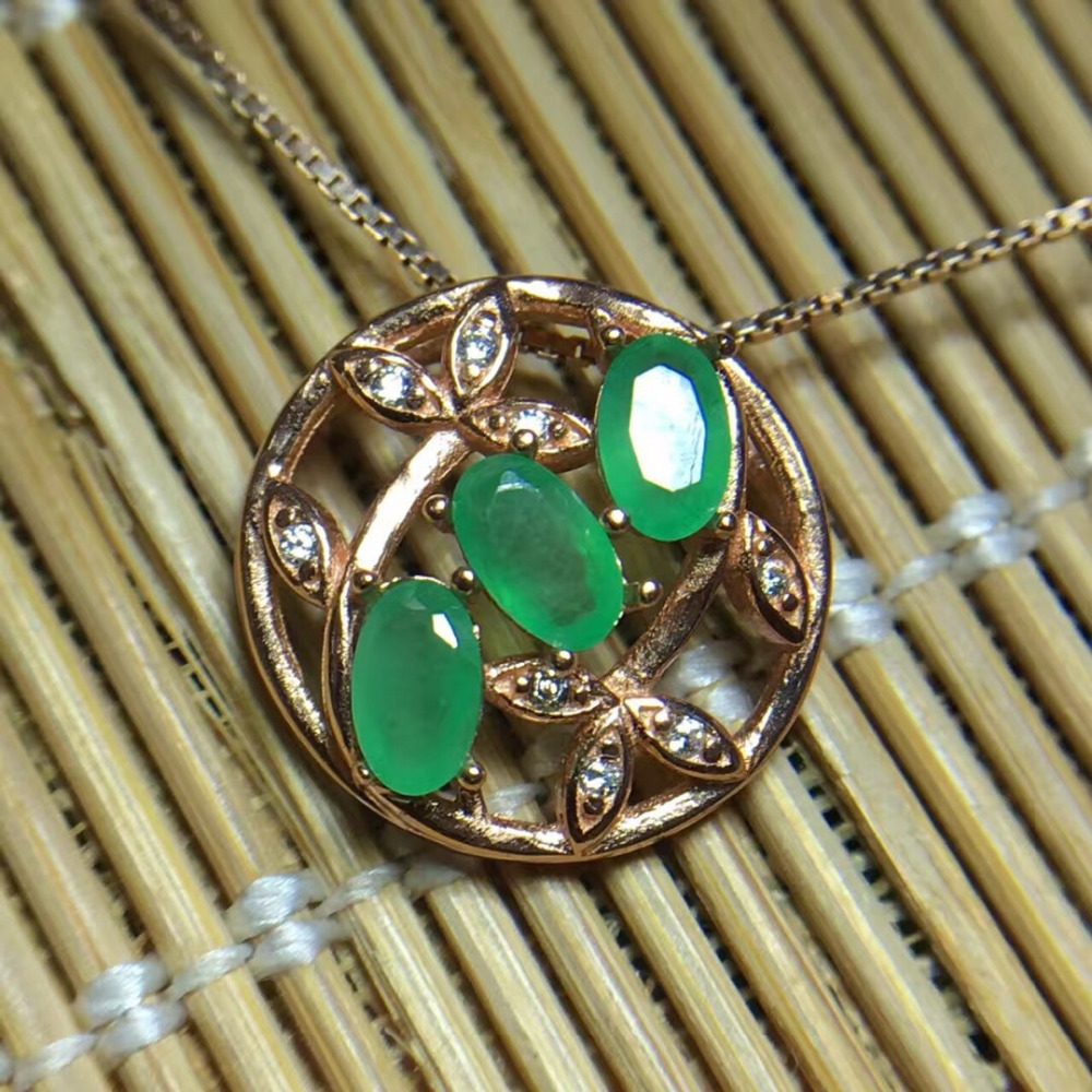 Collier Qi Xuan_Trendy Jewelry_Colombia Green Stone Fashion Necklaces_Rose Gold Color Pendant Necklaces_Factory Directly Sales Collier Qi Xuan_Trendy Jewelry_Colombia Green Stone Fashion Necklaces_Rose Gold Color Pendant Necklaces_Factory Directly Sales